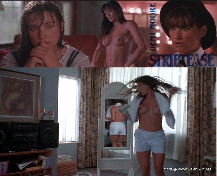 Pictures of Demi Moore StripTease nude sex scenes