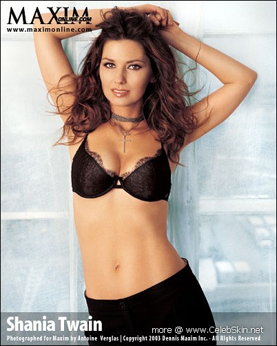 Shania Twain nude, topless pictures,
