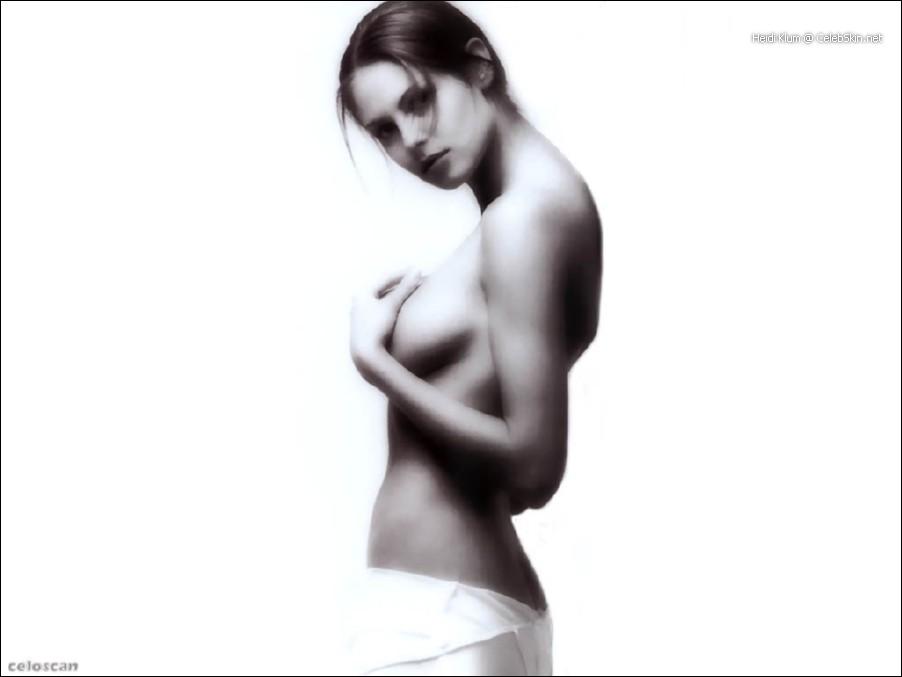 Can See through heidi klum nude